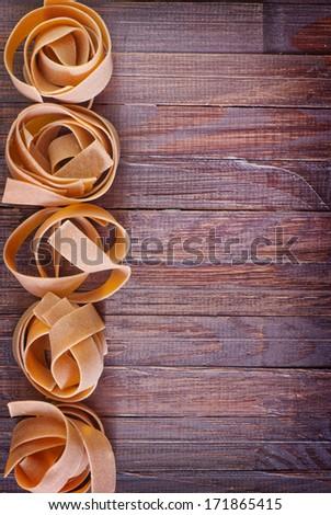 raw pasta - stock photo