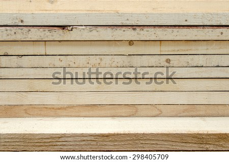 Raw piles of wood for counstruction sites. - stock photo