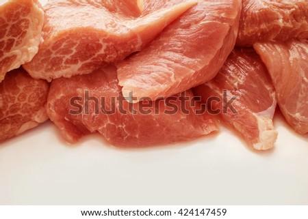 raw pork background - stock photo
