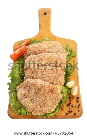 Raw Pork Cutlets - stock photo