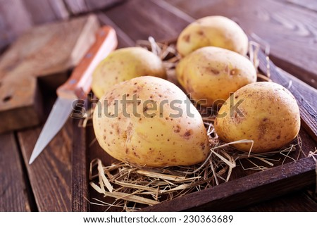 raw potato - stock photo
