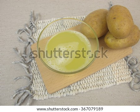 Raw potato juice