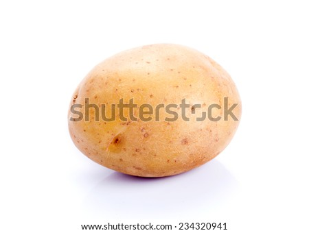 Raw Potato on white background  - stock photo