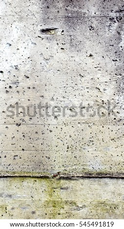 Raw reinforced concrete wall useful as a background - vertical