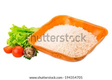 Raw Rice  - stock photo