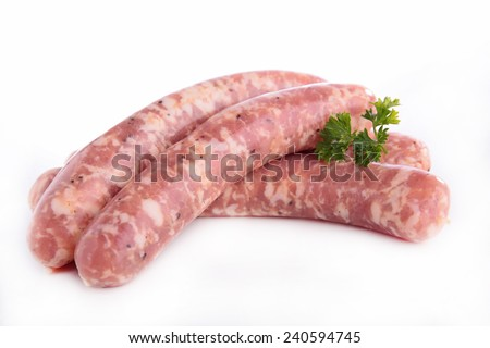 raw sausage - stock photo