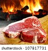 Raw steak - stock photo