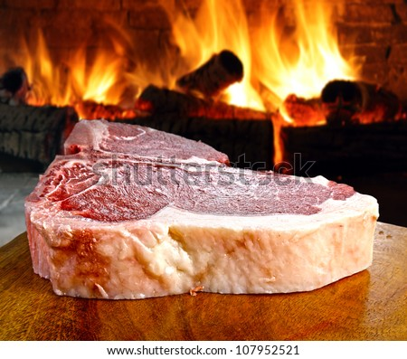 Raw steak - stock photo