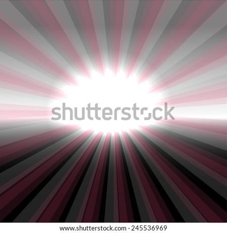 Ray burst light background  - stock photo