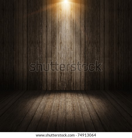 Ray light on wall vintage background - stock photo
