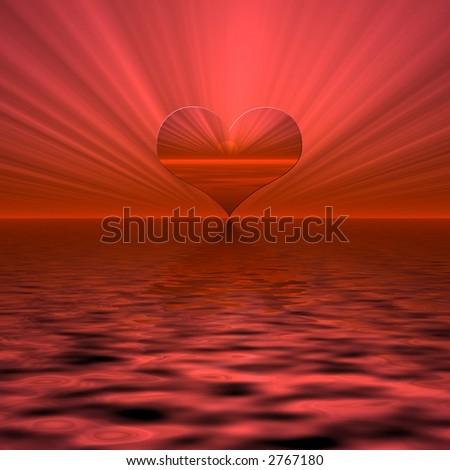 Ray of love. - stock photo