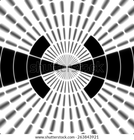 Ray transmission tower or spotter symbol - stock photo