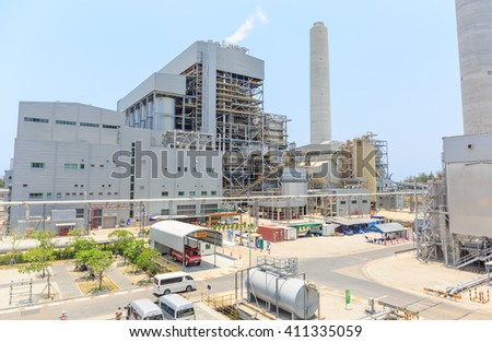 RAYONG - APRIL,26 : The Industry power plant at Lamchabang industrial area where have many factory located there. THAILAND APRIL,26 2016