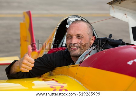 RAYONG - PATTAYA, THAILAND, NOVEMBER 20 : Air Race 1 World Cup 2016 on November 20, 2016 in Rayong - Pattaya at Utapao International Airport