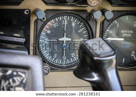 RAYONG , THAILAND- April 28, 2015: Detail of Cessna 208 Caravan no.1918 of KASET, Bureau of Royal Rainmaking and Agricultural Aviation. U-TAPAO Airport, Rayong - stock photo