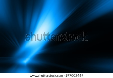 rays on the dark - stock photo