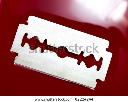 Razor Blade With Blood Stock Photos, Illustrations, and Vector Art