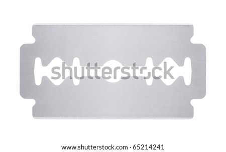 razor blade on white background - stock photo
