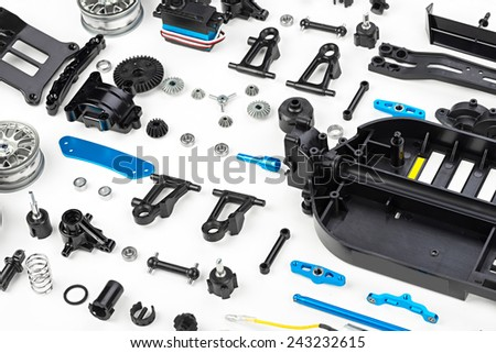 rc car assembly kit - stock photo