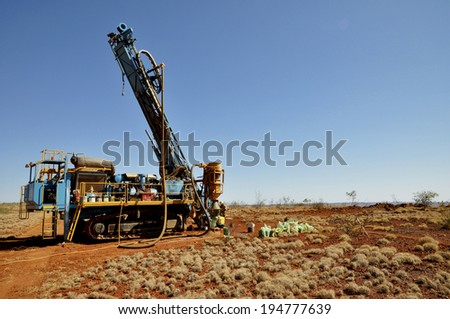 RC Drill Rig  - stock photo