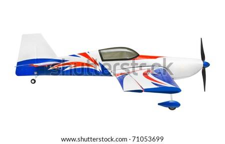 RC plane isolated on white background - stock photo