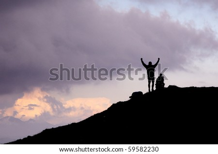 Reach your goal - stock photo