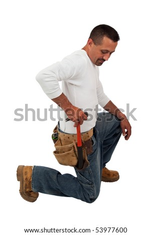 Reaching for the Hammer - stock photo