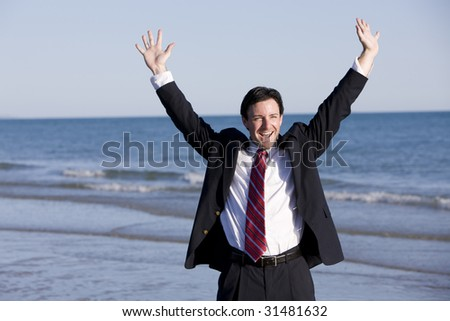 Reaching Success - stock photo