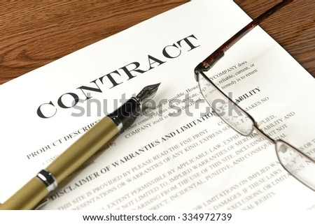 read and sign the contract