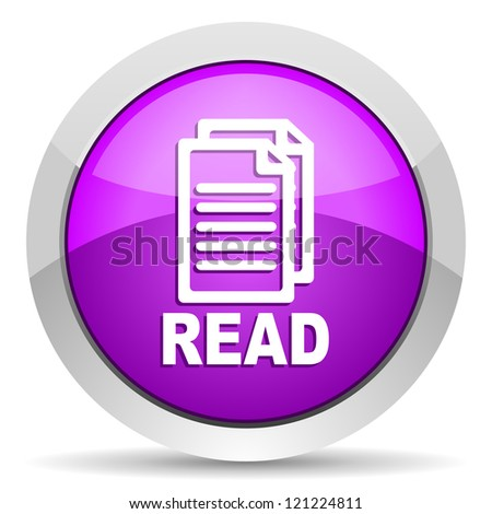read violet glossy icon on white backgroundread violet glossy icon on white background - stock photo