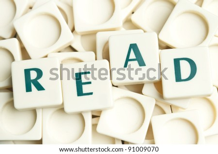 Read word made by leter pieces
