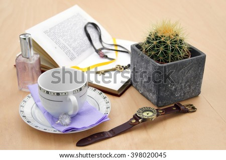 Reader's' table   - stock photo