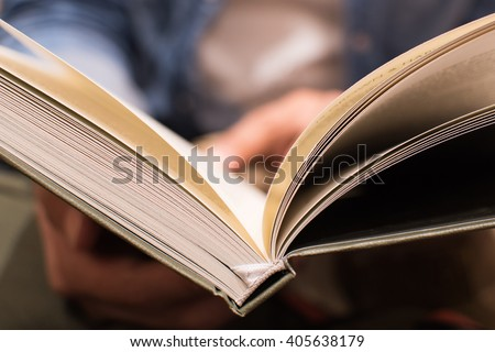 Reading book. Spine, Book  - stock photo