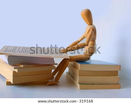 reading dummy - stock photo