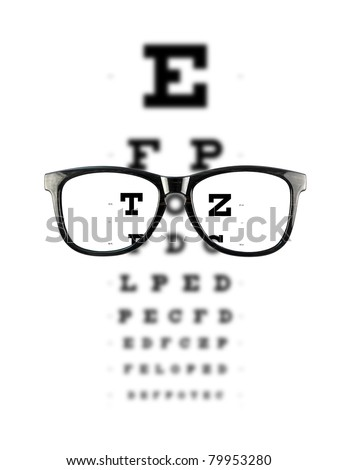 Reading glasses isolated against a white background
