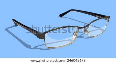 Reading Glasses on colored background.  - stock photo