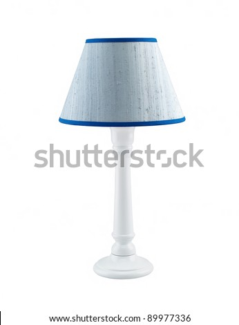 reading lamp isolated on white background - stock photo
