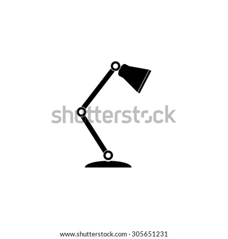 Reading-lamp. Simple black flat pictogram on white background