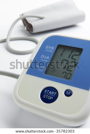reading on blood pressure gauge shows that the condition is under control