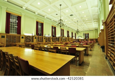 Reading room in university library, edmonton, alberta, canada