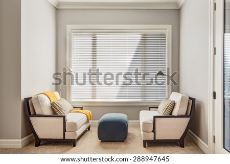Reading Room Nook in New Home - stock photo