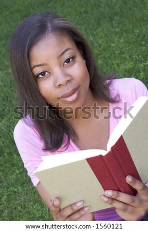 Reading Student - stock photo