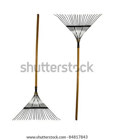 ready for raking leaves! - stock photo