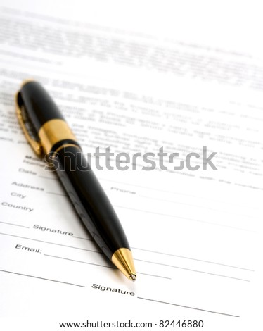 ready for signature - stock photo