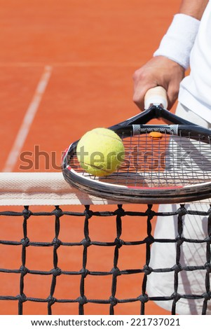 Ready for some tennis.  - stock photo