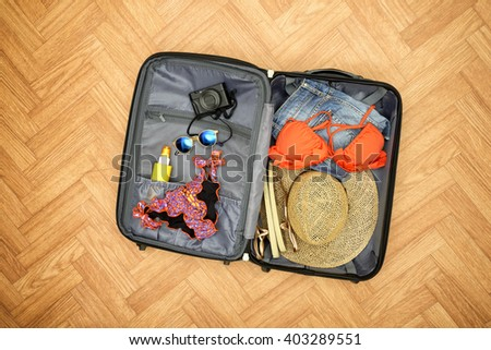 Ready for vacations - stock photo