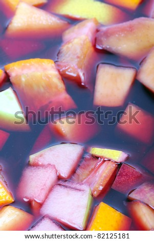 Ready sangria, closeup - stock photo