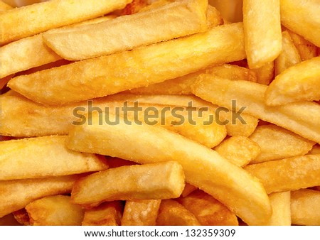 Ready to eat French fries. - stock photo