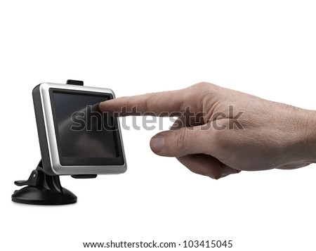 Ready to navigate, gps, clipping path - stock photo