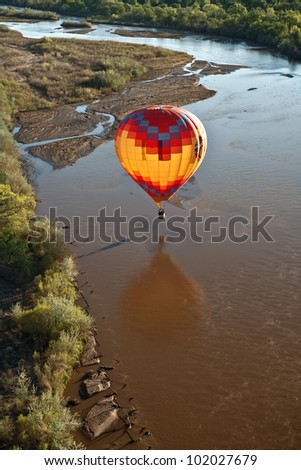Ready to Touch the Rio Grande - stock photo